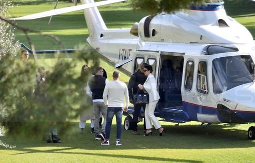 #Sanremo2020: Georgina è atterrata al campo golf, Ronaldo è rimasto alla Continassa. Arriverà in serata? (FOTO)