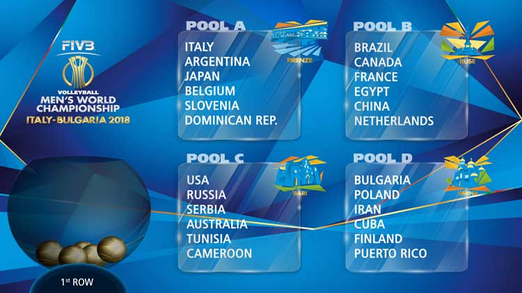 Calendario Volley Maschile.Mondiali Volley Maschile 2018 Calendario Partite Dell