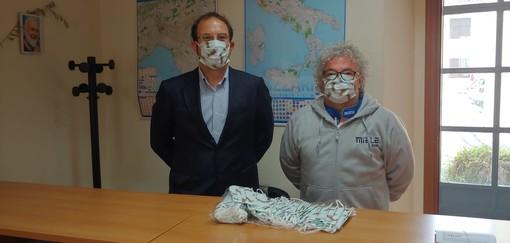 Il sindaco di Castiglione Loris Lovera insieme con Mario Trolese