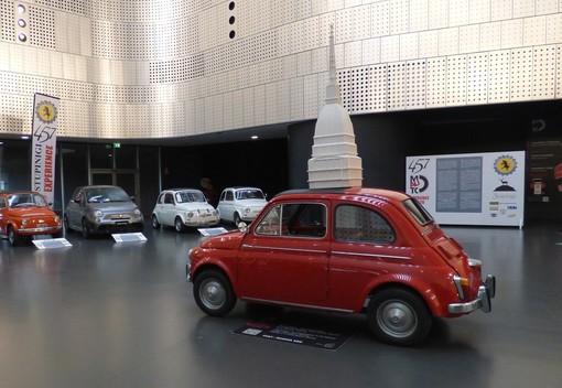 La storia dell'iconica Fiat 500 im mostra al Mauto sino a lunedì 29 giugno
