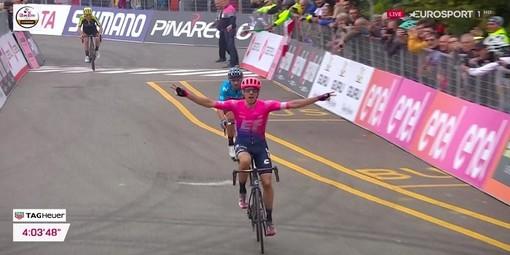 Il vittorio arrivo di Michael Woods (immagine cyclingpro.net)