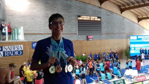 Europei di nuoto per salvamento, cinque medaglie Master per Bruna Ravera. Da oggi in gara gli azzurri