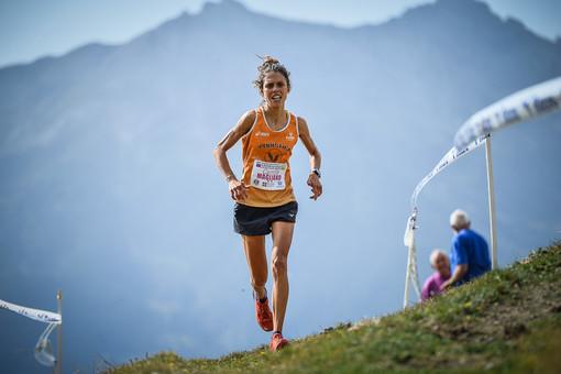 Camilla Magliano sul percorso dello Stellina (foto Damiano Benedetto)