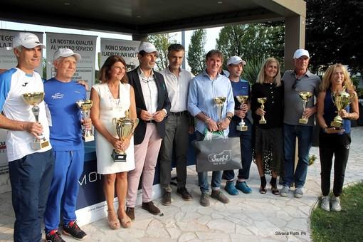 I sei vincitori del Master Subalpino Senior al Monviso Sprting Club