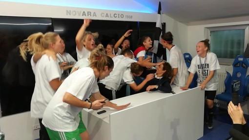 Juventus Women in delirio: le ragazze di Rita Guarino irrompono in conferenza stampa (VIDEO)
