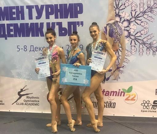 L'azzurrina Alessia Leone, Giulia Manusia e Martina Alberione