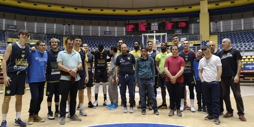 """""""Progetto Davide"""" ospite dell'allenamento della Reale Mutua Basket Torino"""