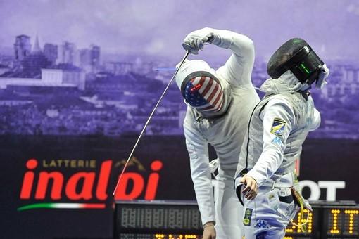Gli atleti in gara al Grand Prix FIE di fioretto maschile e femminile di Torino
