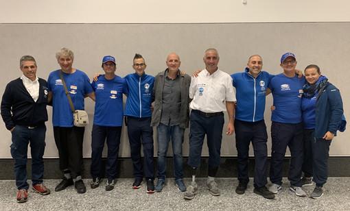 La nazionale Para Rafting della Federazione Italiana Rafting all'aeroporto di Milano Malpensa