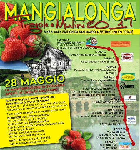 """Si corre la """"Mangialonga Fragole e Mulini"""" da San Mauro a Settimo"""