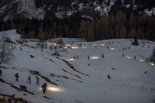 Running Sunset Snow a Pian Munè di Paesana (Cn): di corsa sulla neve all'ora del tramonto