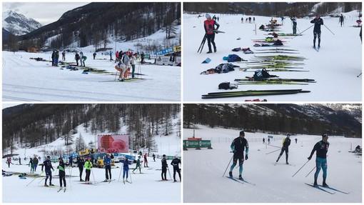 Alpen Cup a Pragelato: in mattinata gli atleti hanno provato la pista