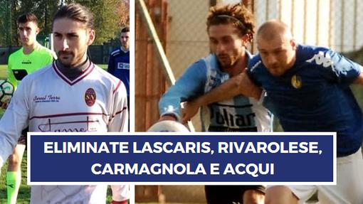 Luca Rizzuto (Nolese, doppietta) e Monteleone dell'Atletico Torino