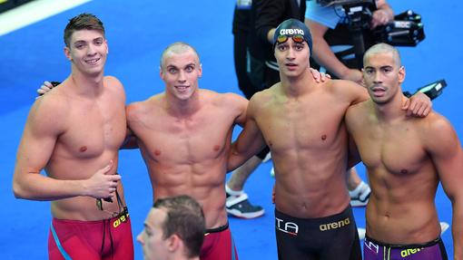 Mondiali di nuoto, 4x100 stile libero azzurra ad un passo dal podio