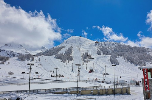 Vialattea, neve fantastica, Kristoffersen sulle piste del Colle