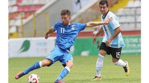 Luigi Cigna (Corio) con la maglia della Nazionale Italiana Non Udenti