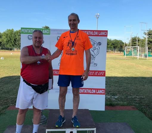 Doppio titolo piemontese per i lanciatori dell'Azimut Atletica Canavesana Anna Maria Camoletto ed Alessandro Corradini