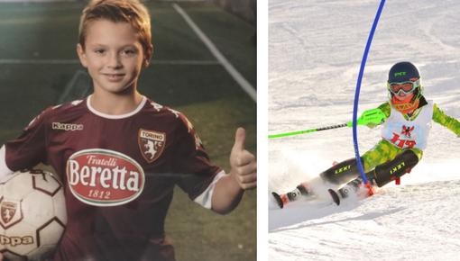 Pietro Casartelli tra gli Esordienti del Torino e le gare di sci