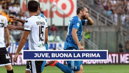SUBITO JUVE! - Parma battuto 0-1, Chiellini-gol. Dubbi-Var per lo 0-2 annullato a Cr7