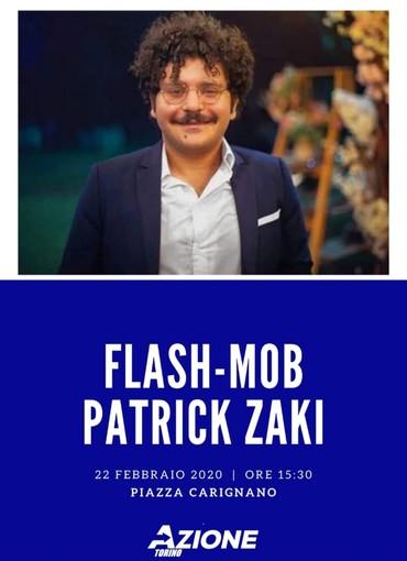 Sabato a Torino flash mob per chiedere la liberazione di Patrick Zaki