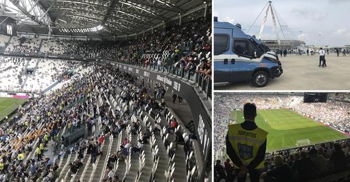 Famiglie e silenzio, cronaca di una partita in curva all'Allianz Stadium. Senza gli ultrà