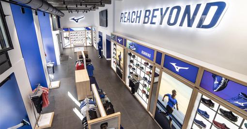 Mizuno apre il primo flagship store d'Europa a Torino