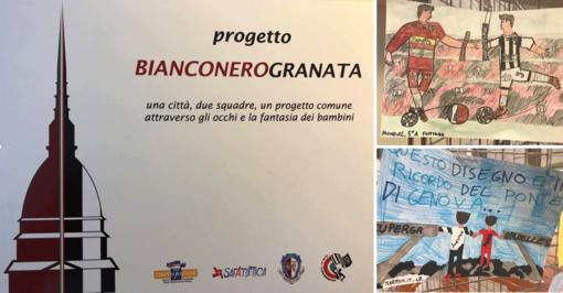 """Progetto """"BianconeroGranata"""": il ricordo di Superga e dell'Heysel nei disegni dei bambini (FOTO e VIDEO)"""
