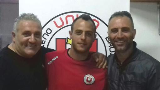 Il presidente Casciello, Bernardo Serpa e il ds-giocatore Nunzio Lazzaro